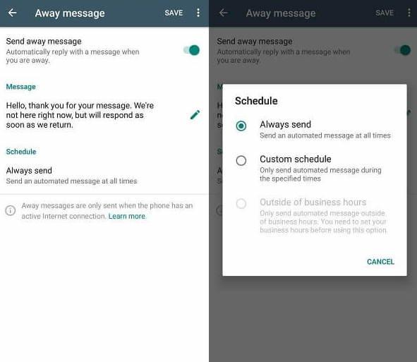 bot de réponse automatique d'entreprise whatsapp