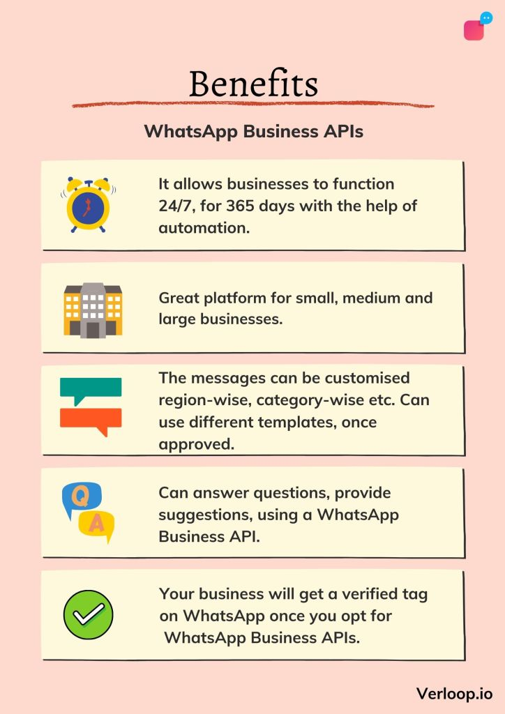 avantages des apis d'affaires WhatsApp